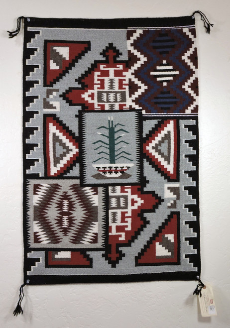 4 in 1 Navajo Rug by Marietta Tsepai