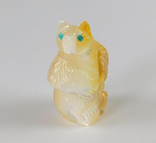 Zuni Sitting Bear by Rodney Lunasee