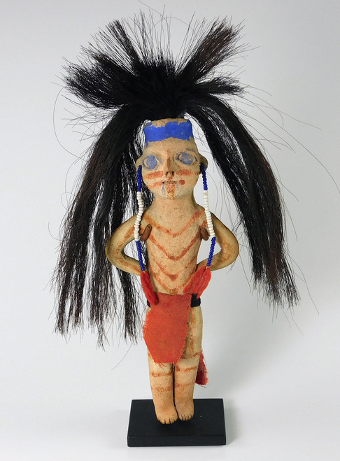 Mohave Indian Standing Male Pottery Figure