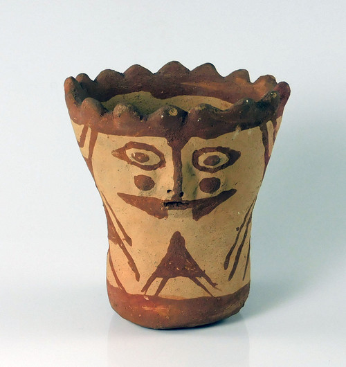Mohave Indian Janus Pottery Cup