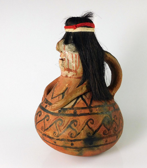 Antique Mohave Pottery Effigy Rattle