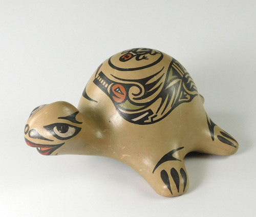 Pottery Turtle Figurine by Margaret and Luther
