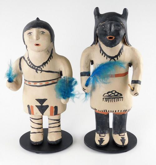 Cochiti Pueblo Pottery Buffalo Dancer Couple