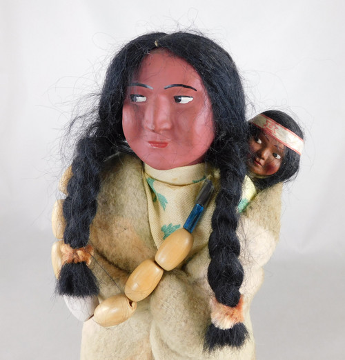 Antique Skookum Doll Mother and Papoose