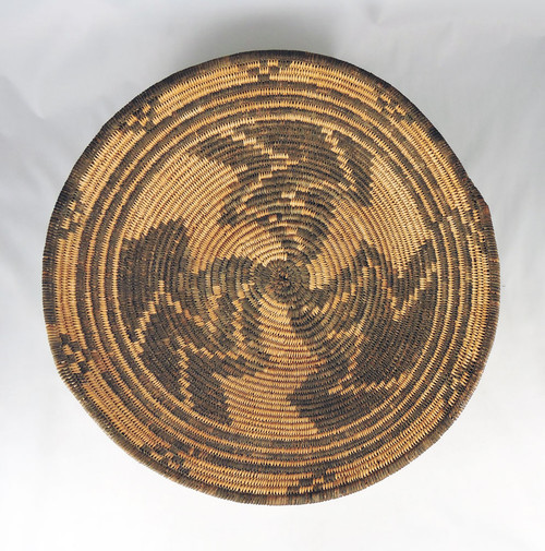 Antique Apache Indian Willow Basketry Tray