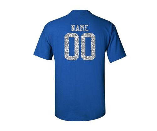 Southington Baseball Mom 50/50 T-Shirt Glitter Logo