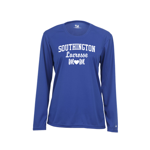 Southington Lacrosse Mom Long Sleeve White Logo