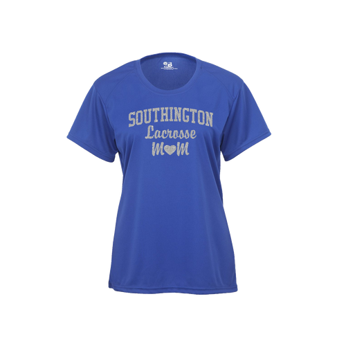 Southington Lacrosse Mom Short Sleeve Glitter Logo