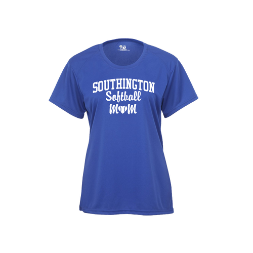 Southington Softball Mom Short Sleeve White Logo