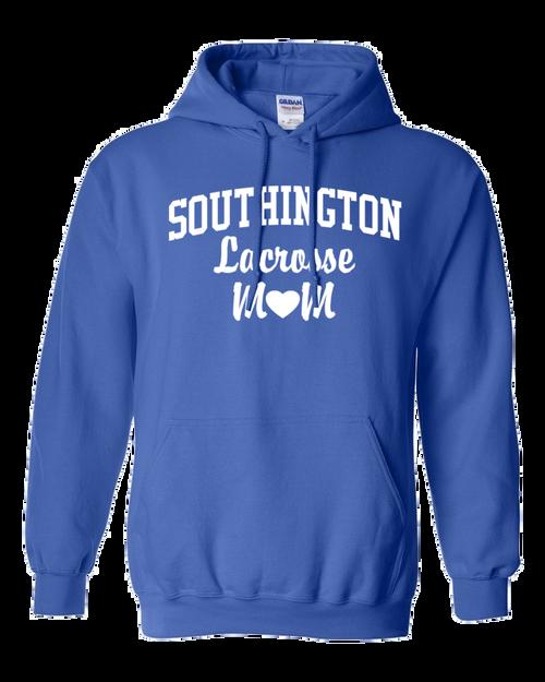 Southington Lacrosse Mom Hoodie White Logo