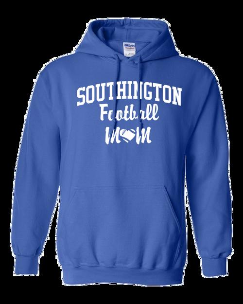 Southington Football Mom Hoodie White Logo