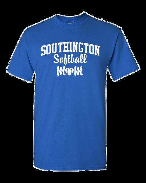 Southington Softball Mom 50/50 T-Shirt White Logo