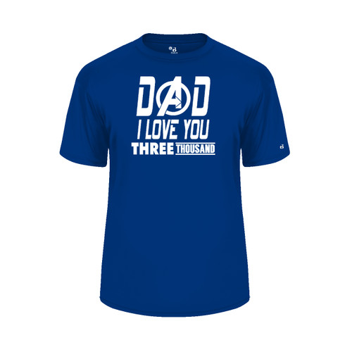 Dad Love You 3000 Royal Blue T-Shirt
