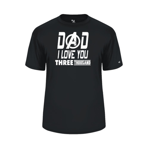 Dad Love You 3000 Black T-Shirt
