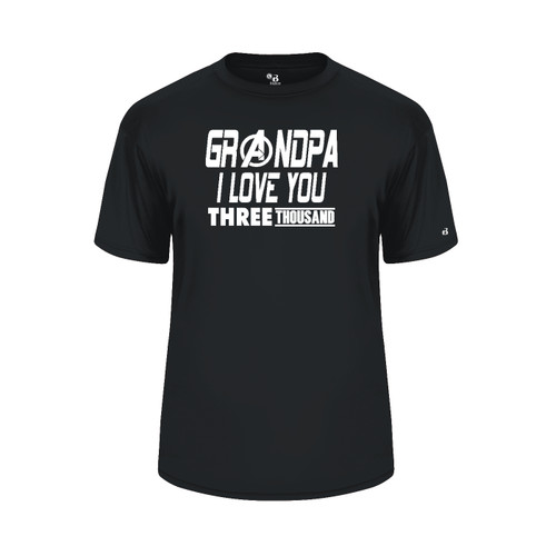 Grandpa Love You 3000 Black T-Shirt