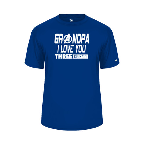 Grandpa Love You 3000 Royal Blue T-Shirt