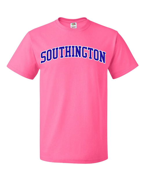 Southington Pink T-Shirt with Royal Logo