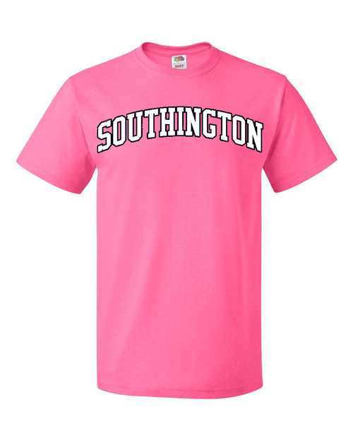 Southington Pink T-Shirt with White Logo