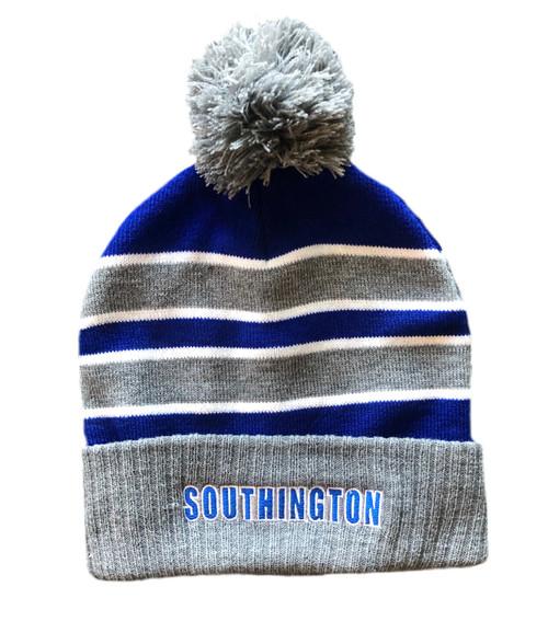 Southington Stripe Pom Pom Hat