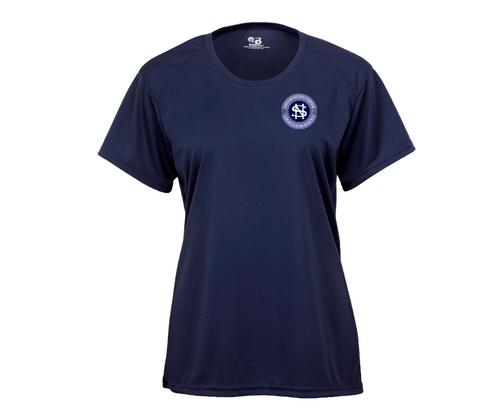 North Baseball Ladies Wicking T-Shirt with Left Chest Logo