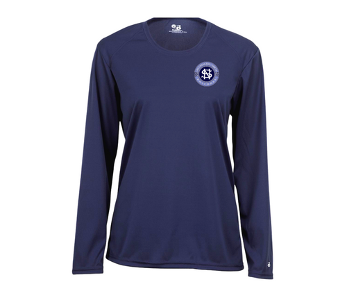 North Baseball Ladies Wicking Long Sleeve  with Left Chest Logo