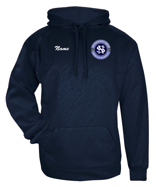 North Baseball Line Embossed Hoodie