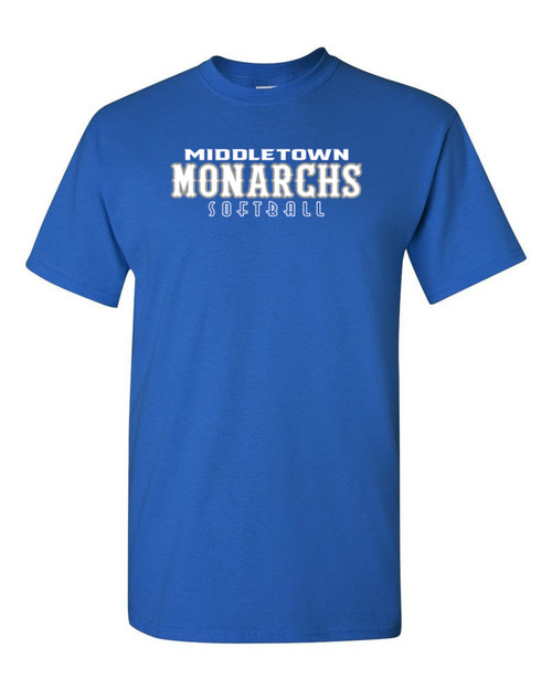 Middletown Monarchs Softball 50/50 T-Shirt