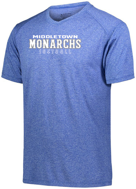 Middletown Monarchs Softball Unisex Wicking Short Sleeve