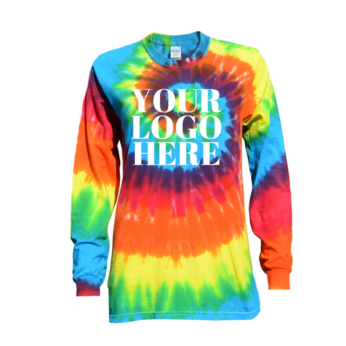 Rainbow Twist Tie Dye Long Sleeve