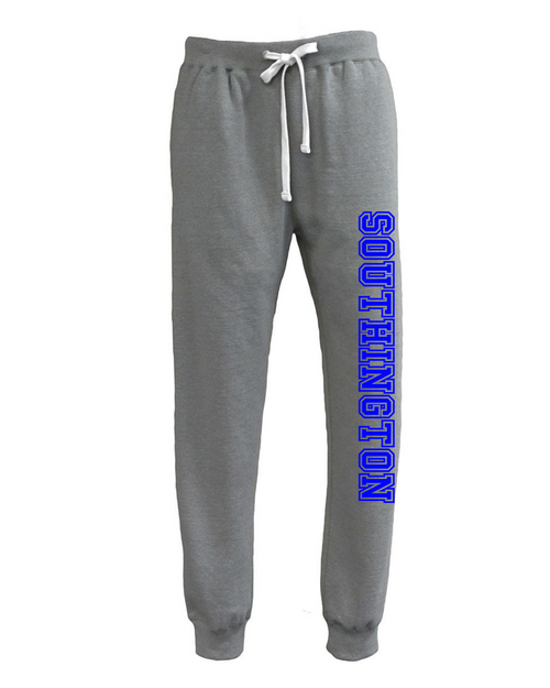 Southington Light Gray Jogger with Leg Logo