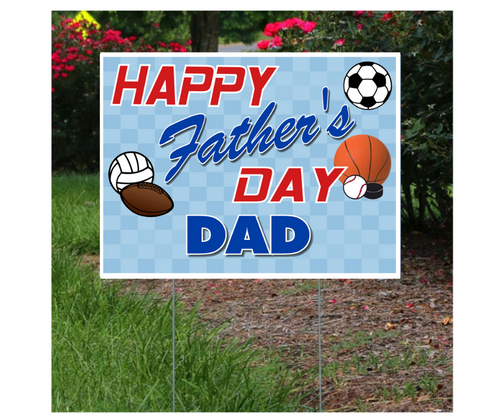 Father's Day Sports Themed Lawn Sign