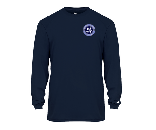 North Baseball Wicking Long Sleeve with Left Chest Logo