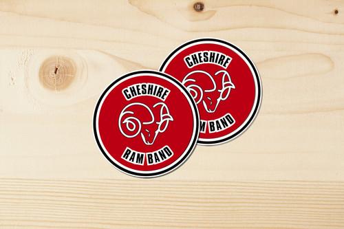 Cheshire Ram Band Sticker