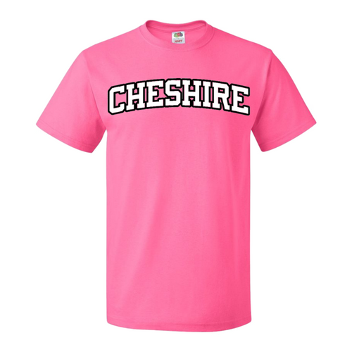Cheshire Pink T-Shirt with White Logo