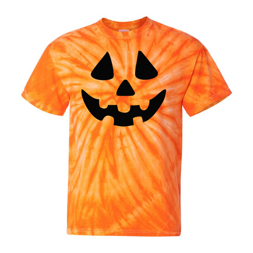 Jack O Lantern Orange Tie Dye T-Shirt