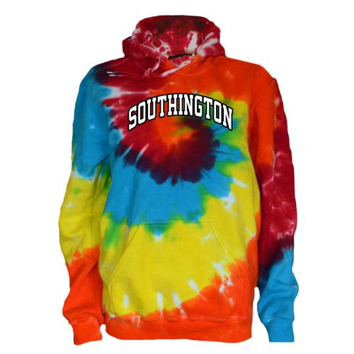 Southington Rainbow Tie Dye Sweatshirt