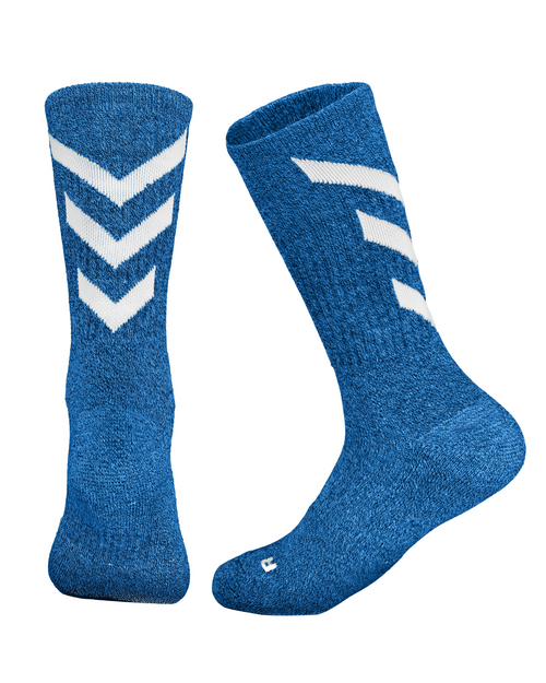 Royal/White Marled Pattern Sock (Sale 2 for $7 or $3.99 each)