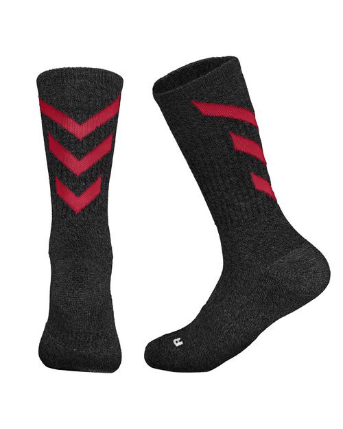 Black/Scarlet Marled Pattern Sock (Sale 2 for $7 or $3.99 each)
