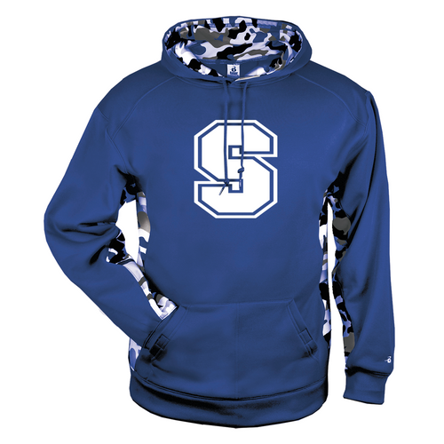 "Southington Big ""S"" Camo Color Block Moisture Management Hoody"