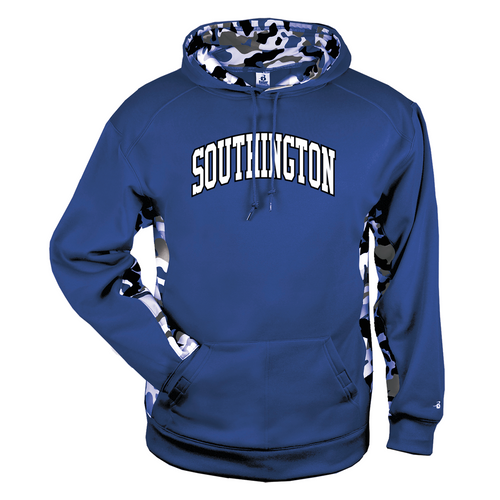 Southington Arched Camo Color Block Moisture Management Hoody