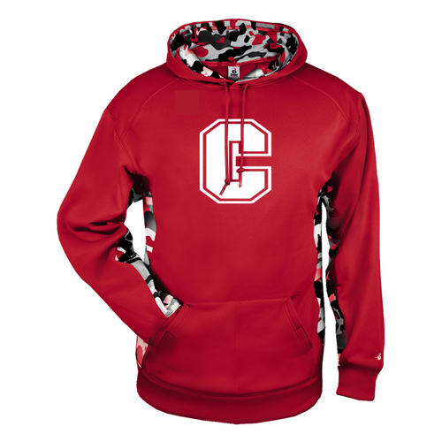 "Cheshire Big ""C"" Camo Color Block Moisture Management Hoody"