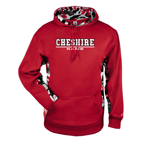 Cheshire Rams Camo Color Block Moisture Management Hoody