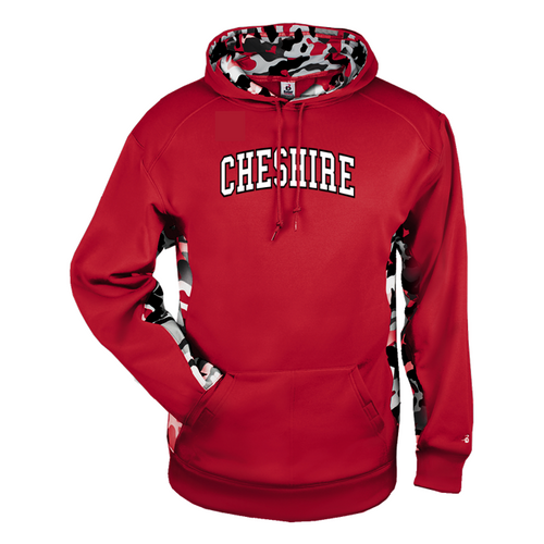 Cheshire Arched Camo Color Block Moisture Management Hoody