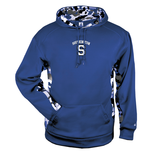 Southington Ironman Camo Color Block Moisture Management Hoody