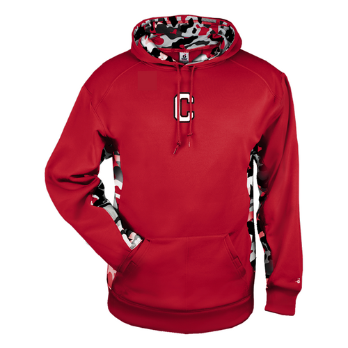 Cheshire Ironman Camo Color Block Moisture Management Hoody