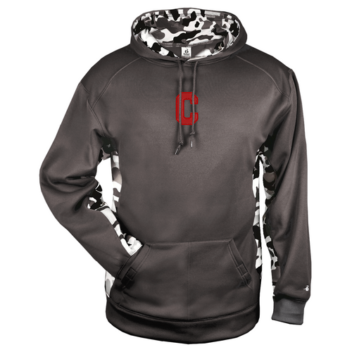 Cheshire Ironman Camo Color Block Graphite Moisture Management Hoody