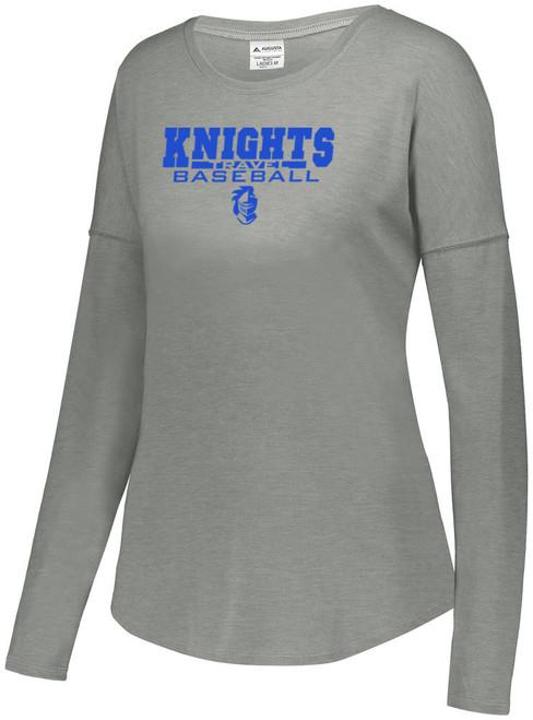 Knights BB Practice Ladies Tri-Blend Long Sleeve