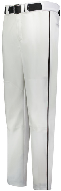 Black Knights White Long Baseball Pant