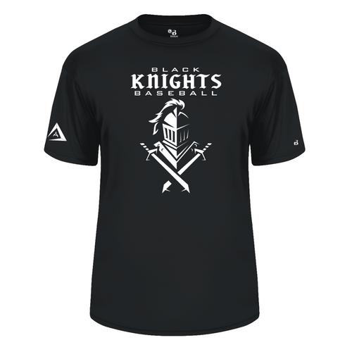 Black Knights Moisture Management Short Sleeve
