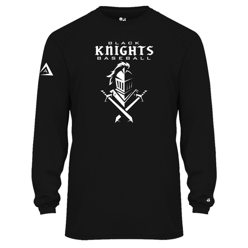 Black Knights Moisture Management Long Sleeve